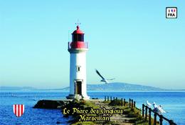 Set 6 Cartes Postales, Phares, Lighthouses Of Europe, France, Marseillan, Le Phare Des Onglous - Leuchttürme