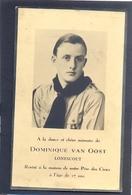 Dominique Van Oost - Lonescout -Né à Tourcoing 1932 Et Décédé à Courtrai 1949 - Images Religieuses