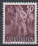 Liechtenstein 1951 Freimarke / Landarbeit - Alpabfahrt 1v   ** Mnh (45957K) - Ungebraucht