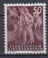 Liechtenstein 1951 Freimarke / Landarbeit - Alpabfahrt 1v   ** Mnh (45957L) - Ungebraucht