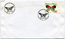 BOLIVIA 2001 FDC LA PAZ SERIE DE MARIPOSAS  FARFALLE  BUTTERFLIES - NTVG. - Bolivia