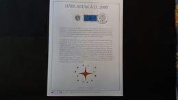 Belgique 2000 : FEUILLET D'ART EN OR 23 CARATS.Timbre Numéro 2967 - Belgique
