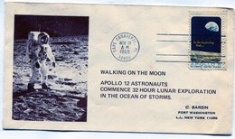 UNITED STATES 1969 FDC WALKING ON THE MOON CAPE CANAVERAL .FL APOLLO 8 - NTVG. - Usati