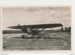 AVION FARMAN LORRAINE 120 CHEVAUX TRANSPORTS AERIENS FRANCAIS  CPA BON ETAT - 1919-1938: Entre Guerres