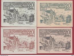 Autriche 4 Notgeld Stadt Eggenburg Dans L 'état N °34 - Austria
