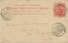 IRELAND - ENTIER POSTAL - ANNEE 1900 - Interi Postali