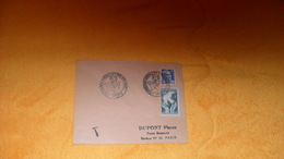 ENVELOPPE DE 1951...CACHETS EXPOSITION POSTALE ET PHILATELIQUE MARSEILLE...+ TIMBRES X3.. - Marcophilie (Lettres)
