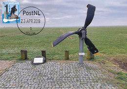 D38751 CARTE MAXIMUM CARD RR FD 2019 NETHERLANDS - WW II LIBERATOR B-24 PROPELLER MONUMENT AMELAND CP ORIGINAL - Monumenten