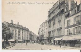 SAINT DENIS. CPA Voyagée En 1918 La Rue De Paris Et Place Aux Gueldres - Saint Denis