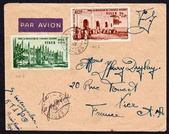 NIGER (Aviation) Timbres PA N° 6 Et 7 Poste Aérienne Obl. Burni- Konni En 1942, Surtaxe Aérienne........... - Cartas