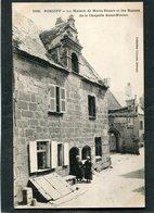 CPA - ROSCOFF - La Maison De Marie Stuart Et Les Ruines De La Chapelle Saint Ninien, Animé - Roscoff