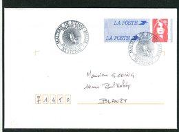 ENTIER Type Briat Oblitèration Malterie De STENAY 55 Meuse 25 Février 1995 - Postmark Collection (Covers)