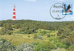 D38755 CARTE MAXIMUM CARD FD 2019 NETHERLANDS - WADDEN ISLAND AMELAND - HOLLUM LIGHTHOUSE PHARE LEUCHTTURM CP ORIGINAL - Vuurtorens