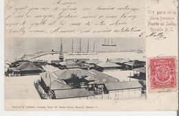 MEXIQUE - SANTA ROSALIA. CPA Voyagée En 1907 IIa Parte De La Mesa Francesa Le Port - Messico