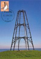D38756 CARTE MAXIMUM CARD RRR FD 2019 NETHERLANDS - WADDEN ISLAND TEXEL - SEA BEACON TOWER IJZEREN KAAP CP ORIGINAL - Vuurtorens