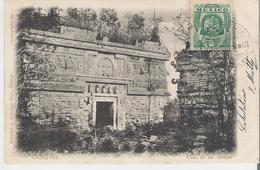 MEXIQUE - CHICHEN ITZA. CPA Voyagée En 1906 Casas De Las Monjas - Mexique