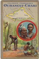 Oubangui-chari Colonies Francaises Par Lion  Noir  Paris-montrouge  Descriptif Au Verso  Centraficaine Republique - Zentralafrik. Republik