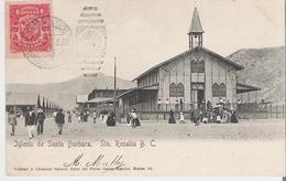 MEXIQUE - SANTA ROSALIA. CPA Voyagée En 1907 Iglesia De Santa Barbara - Mexico
