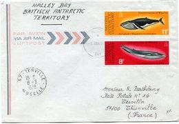 B. A. T. LETTRE PAR AVION DEPART HALLEY 5 JAN 1978 BAY POUR LA FRANCE - Territoire Antarctique Britannique  (BAT)