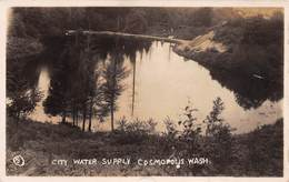COSMOPOLIS, WASHINGTON - CITY WATER SUPPLY ~ AN OLD REAL PHOTO POSTCARD #9P26 - Other