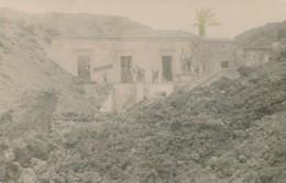 2a.405. Eruzione Dell'Etna 6 Aprile 1910 - Belpasso - Casa Cisterna Della Regina - Cartolina Fotografica - Italia