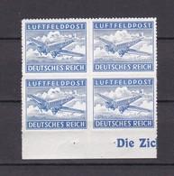 Deutsches Reich - Feldpostmarken -  1942/43 - Michel Nr. 1 B - Viererblock  - UR - Postfrisch - Deutschland