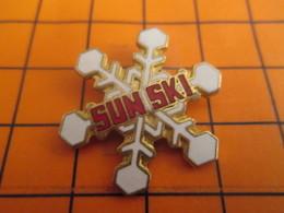 2619 Pin's Pins / Beau Et Rare / THEME SPORTS  D'HIVER / SUN SKI FLOCON DE NEIGE - Wintersport