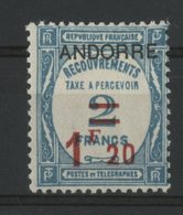 ANDORRE TAXE N° 13 Cote 92 €. Neuf * (MH). TB - Segnatasse
