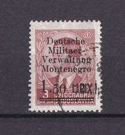Montenegro - 1943 - Michel Nr. 3  -  Gest. - 35 Euro - Besetzungen 1938-45
