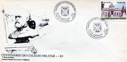 BRASIL 1989 FDC RIO DE JANEIRO CENTENARIO DO COLEGIO MILITAR - NTVG. - Gebruikt