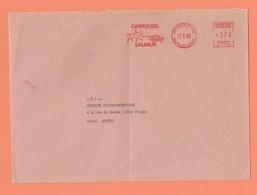 E.M.A. CARROUSEL SAUMUR 49 SAUMUR PPAL MAINE ET LOIRE 1985 - Postmark Collection (Covers)