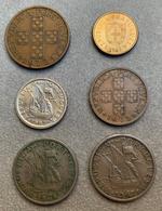 Lot 6 Monnaies Du Portugal, 1 (x2), 2.5, 5 (x2) Escudos Et 50 Centavos—1964/1982 - Portugal