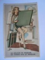 Un Bonjour De Wenduine Een Goeden Dag Uit Wenduine Vrouw Met Kaft Illustr. J.B. Edit M.D. Paris - Wenduine