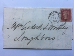 GB Victoria 1850 Wrapper Manchester To Lougborough Tied With 1d Star - 1840-1901 (Victoria)