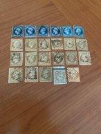 LOT DE 23 TIMBRES Avec Oblitération Lettres  Des Bureaux De PARIS  ( Port Offert ) - 1849-1876: Période Classique