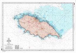 ILE D'YEU (85) Belle Carte Géographique De L'Ile - - Ile D'Yeu