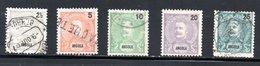 1898 - YT 38 A 43 OBLITERE - Angola