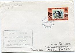 B. A. T. LETTRE DEPART SIGNY ISLAND 9 FEB 1981 SOUTH ORKNEYS POUR LA FRANCE - Territoire Antarctique Britannique  (BAT)