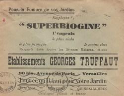 PAIX 50C SUR ENV ILLUSTREE JARDINS OUVRIERS DE FRANCE  VALENCIENNES NORD 8/1/37 POUR MAUBEUGE - Marcophilie (Lettres)