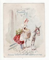 Chromo  POUDRE L'EGYPTIENNE  à Rouen   Femme Et Ane - Trade Cards