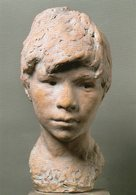 Sculpteur  Gay. Vincenzo Gemito.  Tête. De  Jeune Garçon. Head Of A Young Boy. - Sculptures