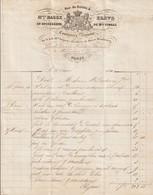 PARIS : Facture Illustrée De La Couturière Brevetée De Mme BASSE, élève  ... De Mme TIMBAL, 4 Rue Du Helder ... ( TTB) - 1800 – 1899