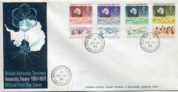 B. A. T. LETTRE AFFRANCHIE AVEC LES N°39 / 42 OBLITERATION ARGENTINE ISLANDS 23 JU 71 GRAHAM LAND - Territoire Antarctique Britannique  (BAT)