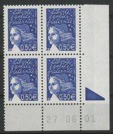 N° 3449 ** (MNH). Coin Daté Du 27/06/01. TB - Ecken (Datum)