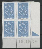 N° 3737 ** (MNH). Coin Daté Du 29/10/04. TB - Ecken (Datum)