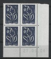 N° 3738 ** (MNH). Coin Daté Du 27/09/04. TB - Ecken (Datum)