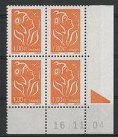 N° 3739 ** (MNH). Coin Daté Du 16/11/04. TB - Ecken (Datum)