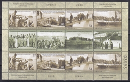 Serbia 2020 Italian Navy For The Serbian Army In The Great War History WW1 First World War Ships Sheet MNH - Serbia