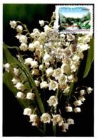 Carte Maximum 2009 - Flore Des Régions. La Flore Du Nord. Le Muguet (Pays De La Loire). - Maximum Cards