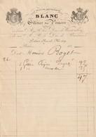 """PARIS : Facture Illustrée Du Giletier Des Princes """" A Jean De Bourgogne"""", 159 Palais Royal.... - 1800 – 1899"""